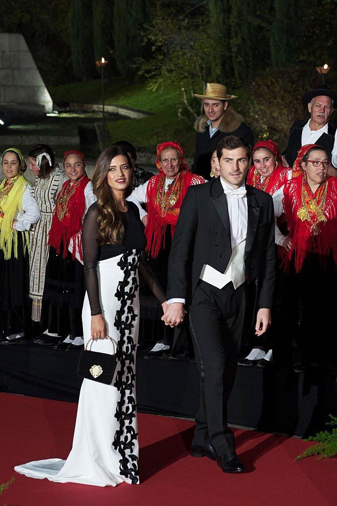 Iker y Sara asistieron a una Cena de Gala en el Palacio de los Duques de Braganza. l Fuente: Getty Images