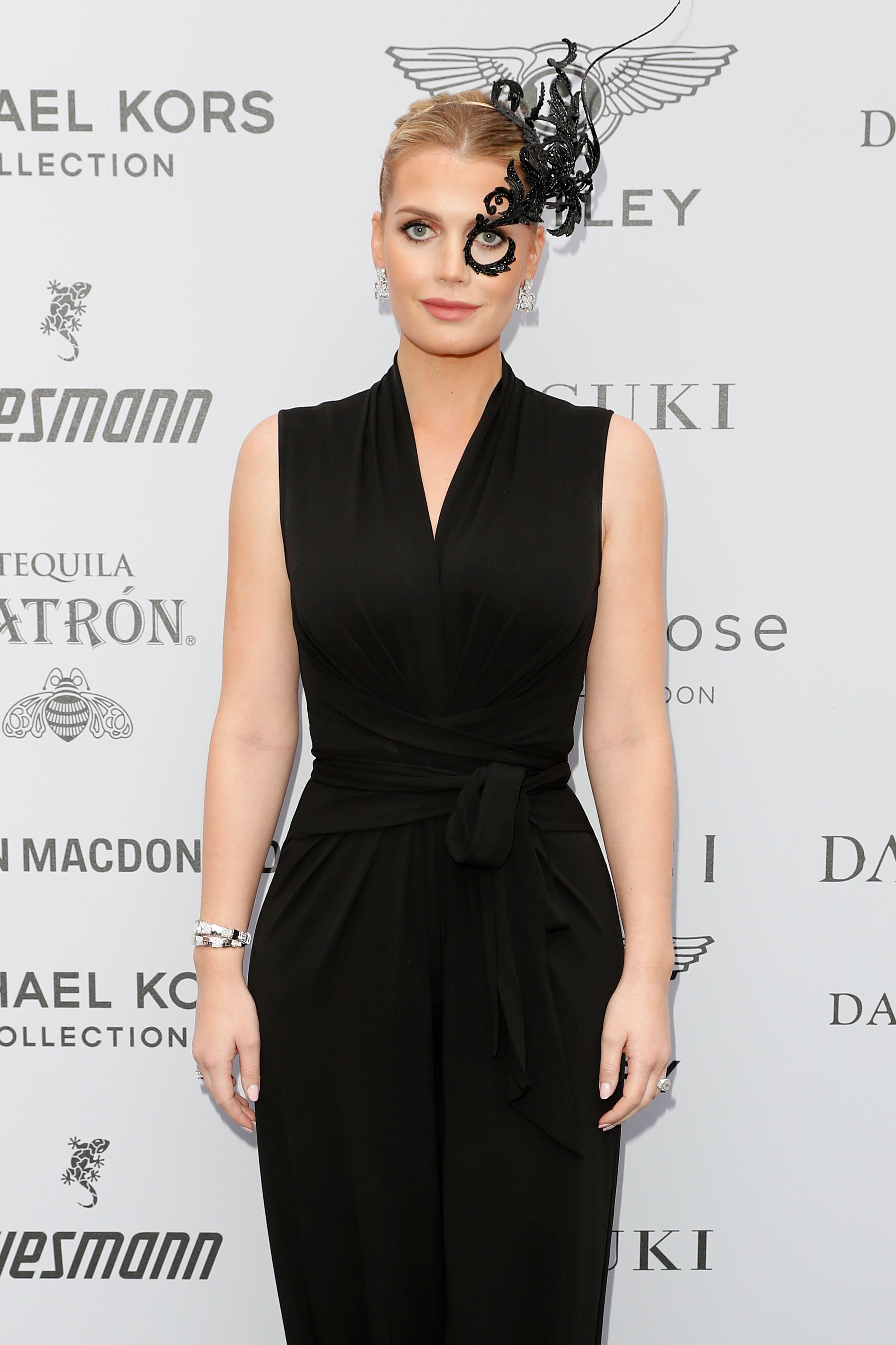 Lady Kitty Spencer at the Cash & Rocket Masquerade Ball & Auction Gala on June 05, 2019.   Getty Images