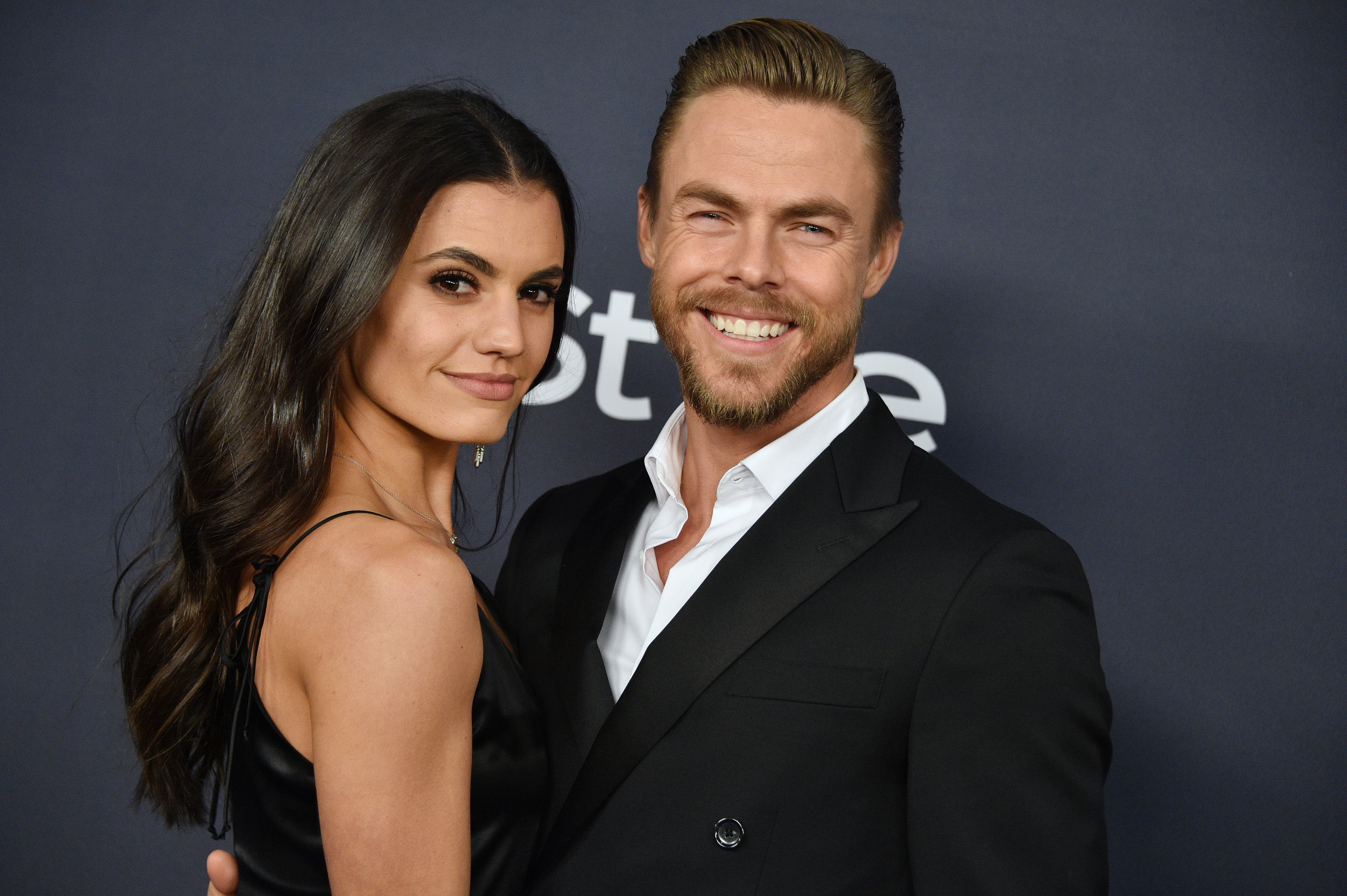Hayley Erbert and Derek Hough attend the 21st Annual Warner Bros. And InStyle Golden Globe After Party on January 05, 2020, in Beverly Hills, California.   Source: Getty Images.