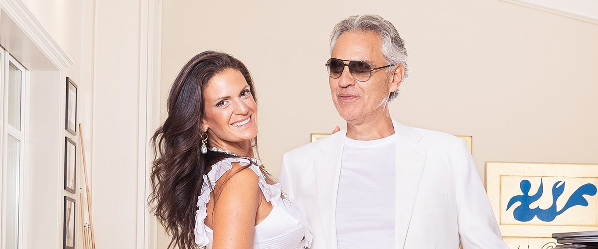 Andrea Bocelli and Veronica Berti Pose at the Andrea Bocelli Celebrity Fight Night 2019 on July 28, 2019 | Photo: Getty Images
