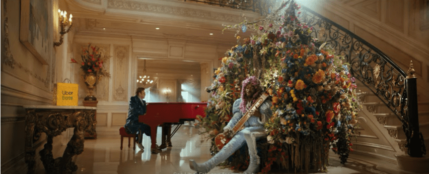 Elton John and Lil Nas X featured in an Ad campaign for Uber Eats. | Photo: Youtube/ Uber Eats