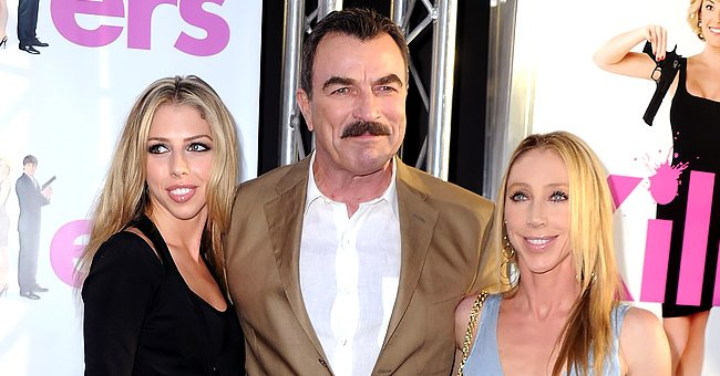 Tom Selleck's Daughter Hannah Looks Gorgeous Posing an Elegant All-White Pant Suit