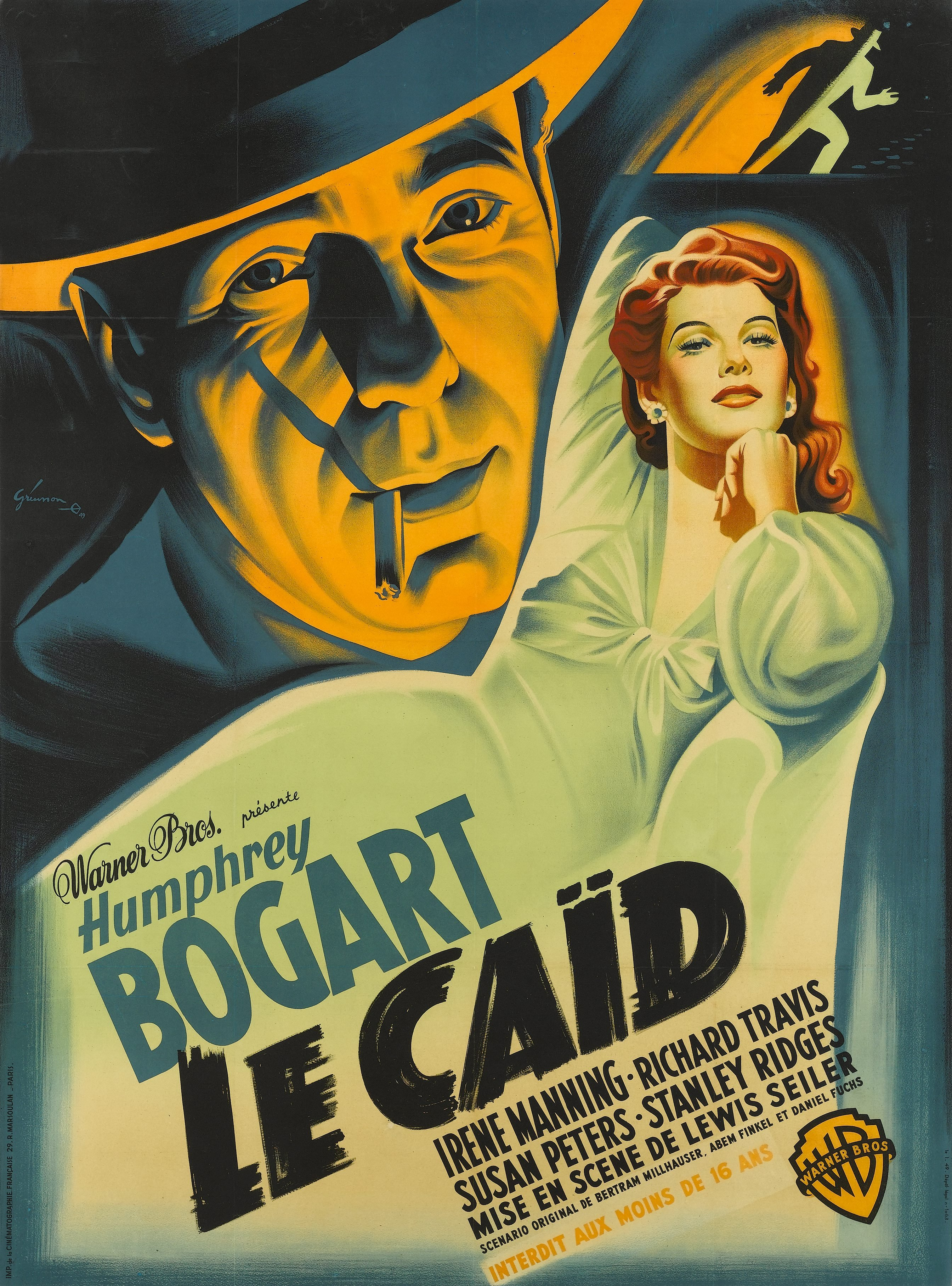 """A poster of Humphrey Bogarts """"The Big Shot"""" when it was titled """"La Caid."""" 