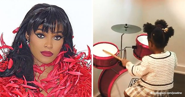 Joseline Hernandez melts hearts with sweet video of daughter Bella, 1, playing the drums