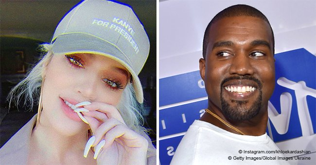 Khloé Kardashian proudly models 'Kanye For President' hat in new photos