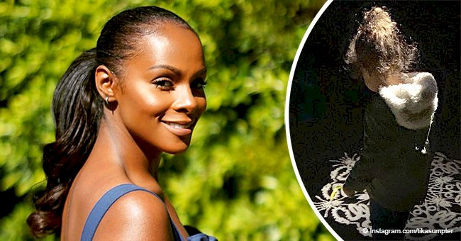 Tika Sumpter melts hearts with new photo of growing daughter in coat & her curly hair in a bun