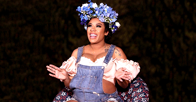 See Keyshia Cole's Sheer Outfit and Blue Flower Crown for Her Baby Shower