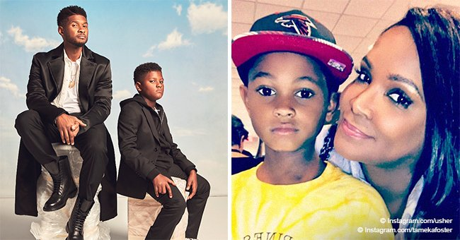 Usher and ex Tameka Foster celebrate their two sons' birthdays in recent photos