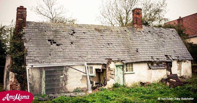 Altes Cottage wurde vor mehr als 9 Jahren verlassen. Vor kurzem traute sich ein Fremder herein