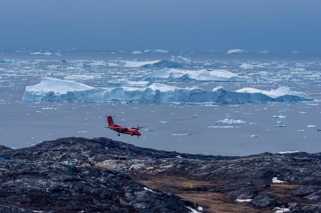 Melting icebergs near Ilulissat, Greenland. May, 2021 | Source: Getty Images