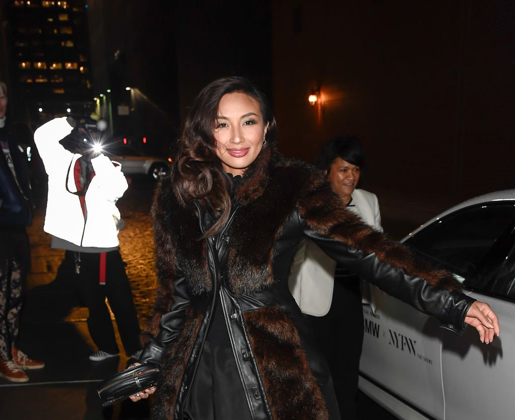 Jeannie Mai is seen leaving the Christian Siriano Fall Winter 2020 NYFW at Spring Studios on February 6, 2020 | Photo: Getty Images