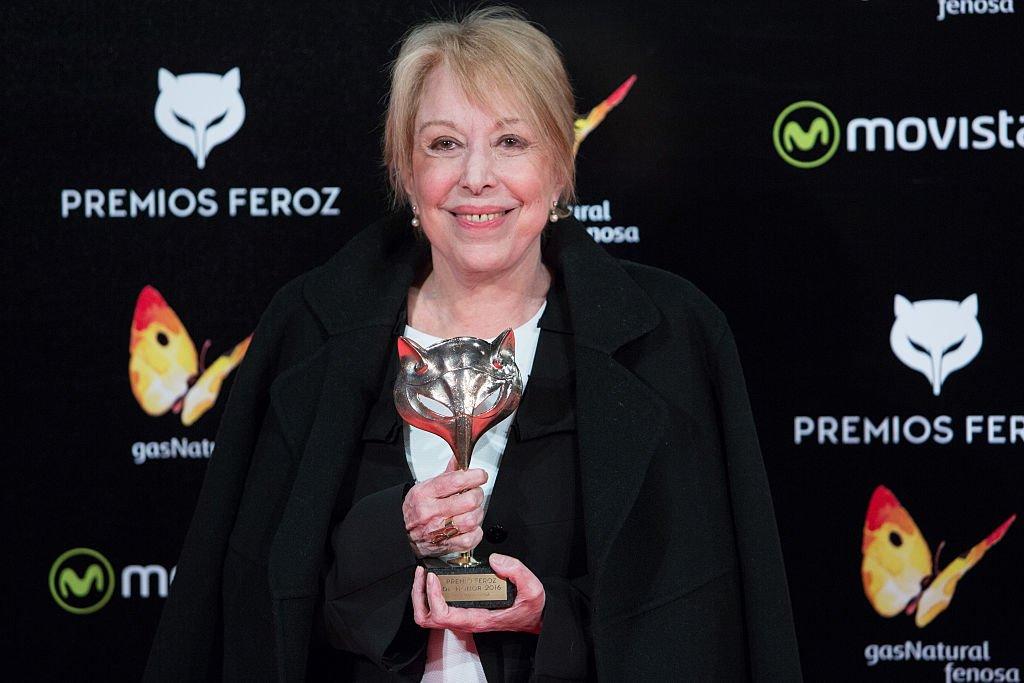 Rosa Maria Sarda asiste a la rueda de prensa de los Premios Feroz 2016 el 19 de enero de 2016 en Madrid, España. | Foto: Getty Images