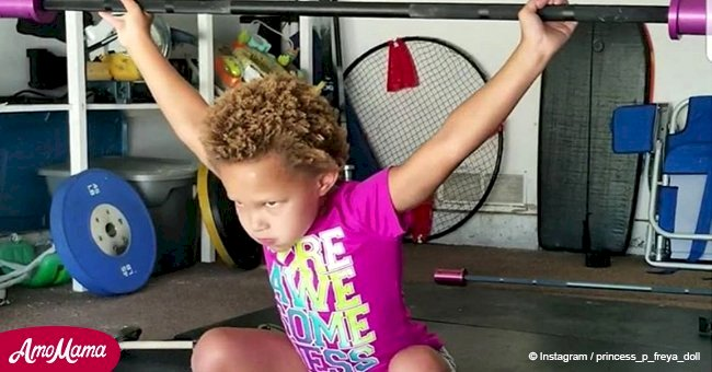 Meet the youngest female bodybuilder aged only 5