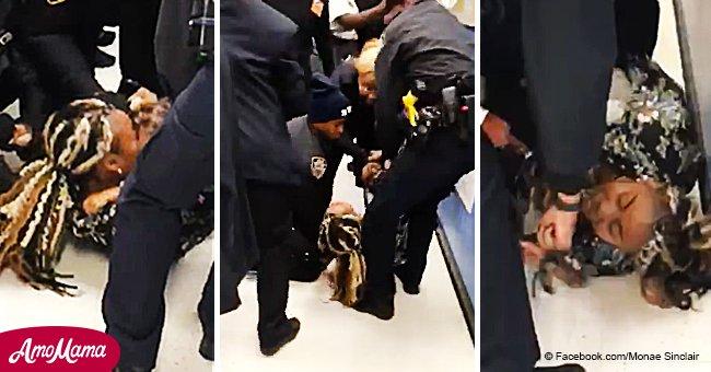 Horrendo video muestra a policías de Nueva York arrancando a bebé de brazos de su madre