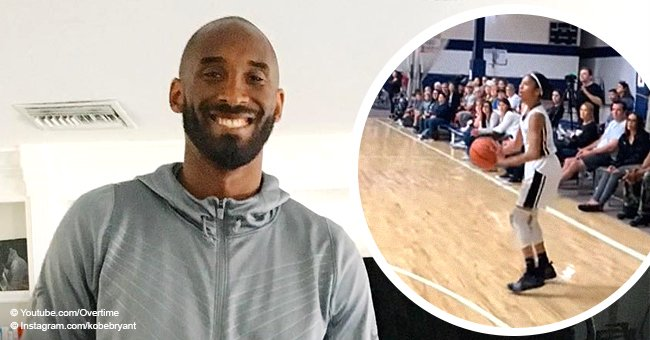 """Kobe Bryant's daughter shows off """"Mamba mentality"""" while being coached by dad at a basketball game"""