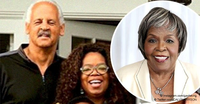Oprah poses in rare photo with Stedman and family on first Christmas after her mom passed away