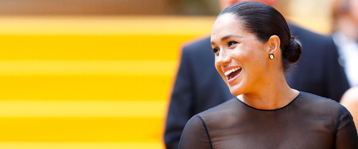 Duchess Meghan Dazzles in a Classy Black Dress at London's 'Lion King' Premiere