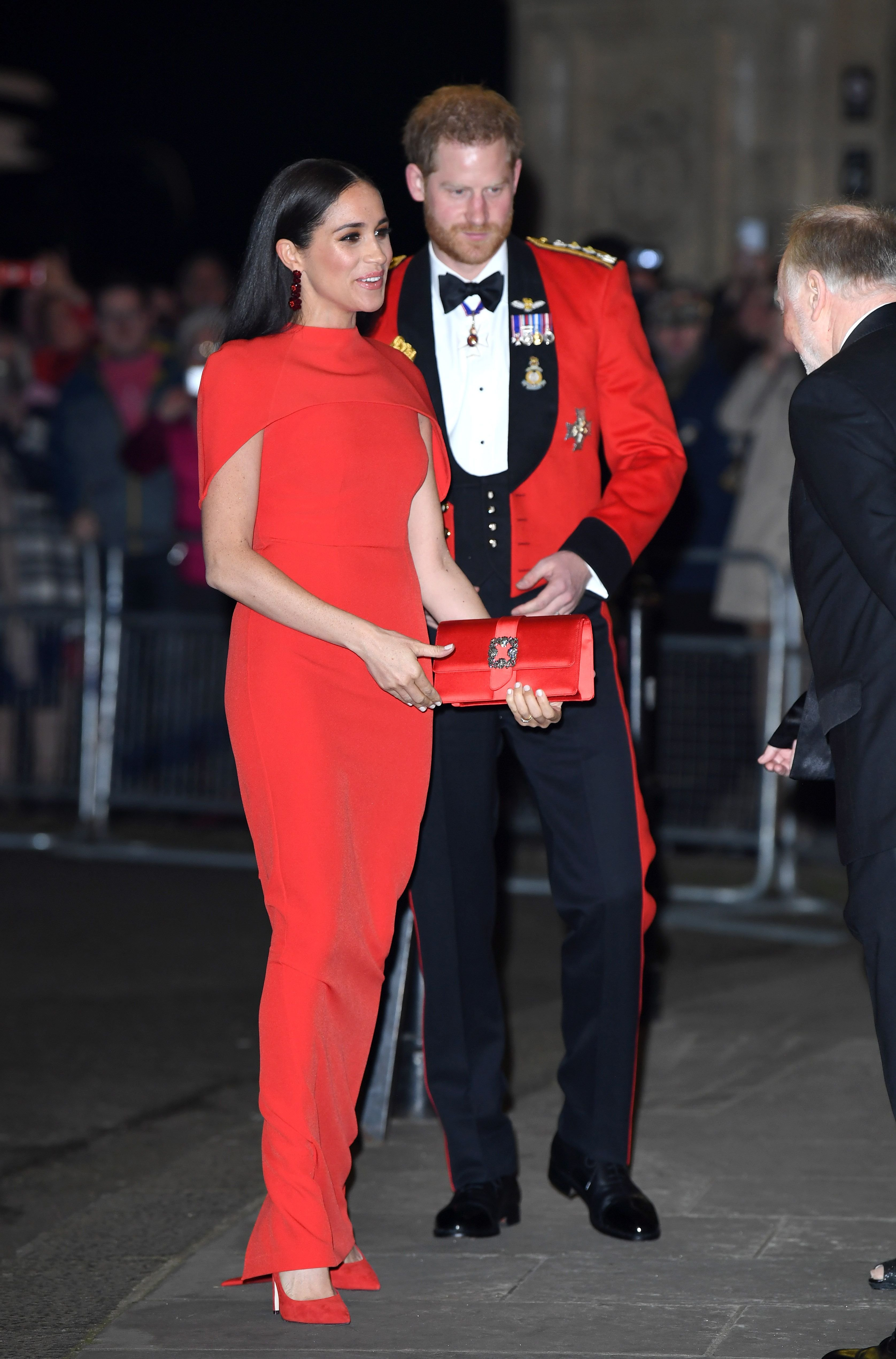Duchess Meghan and Prince Harry at the Mountbatten Festival of Music on March 07, 2020, in London, England | Photo: Getty Images