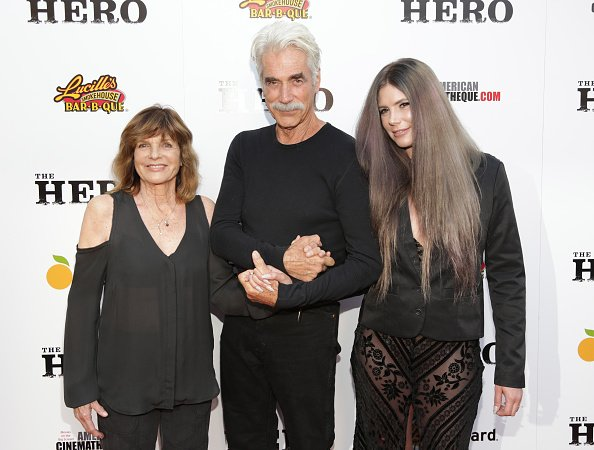 Katharine Ross, Sam Elliott and Cleo at the Egyptian Theatre on June 5, 2017 in Hollywood, California. | Photo: Getty Images
