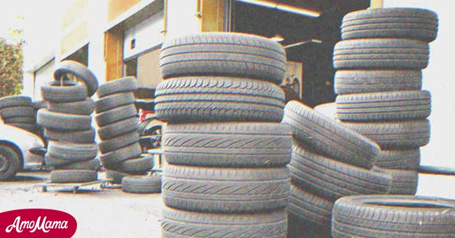 Stacked tires | Source: Shutterstock