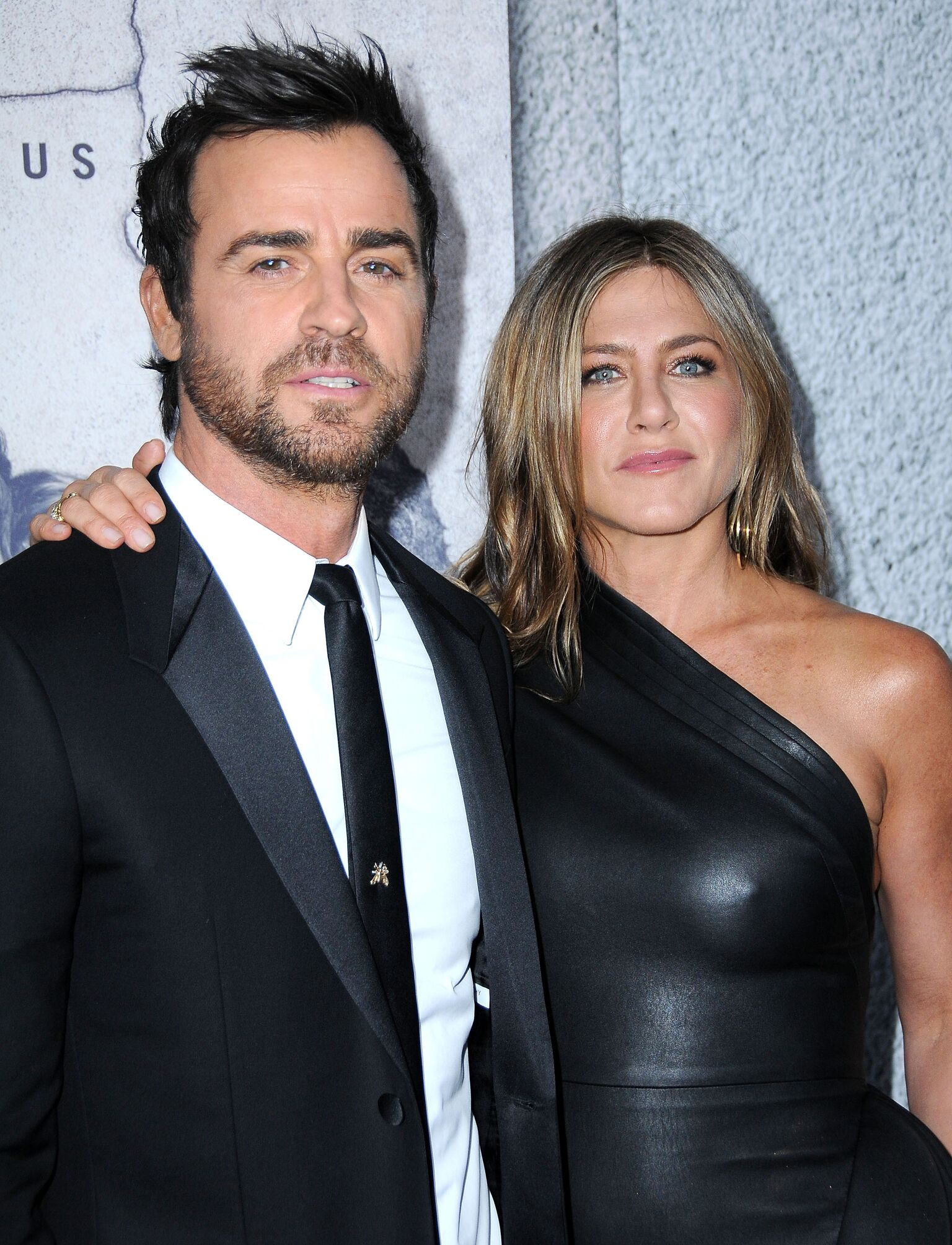 Justin Theroux and actress Jennifer Aniston attend the premiere of HBO's 'The Leftovers' Season 3 at Avalon Hollywood | Getty Images