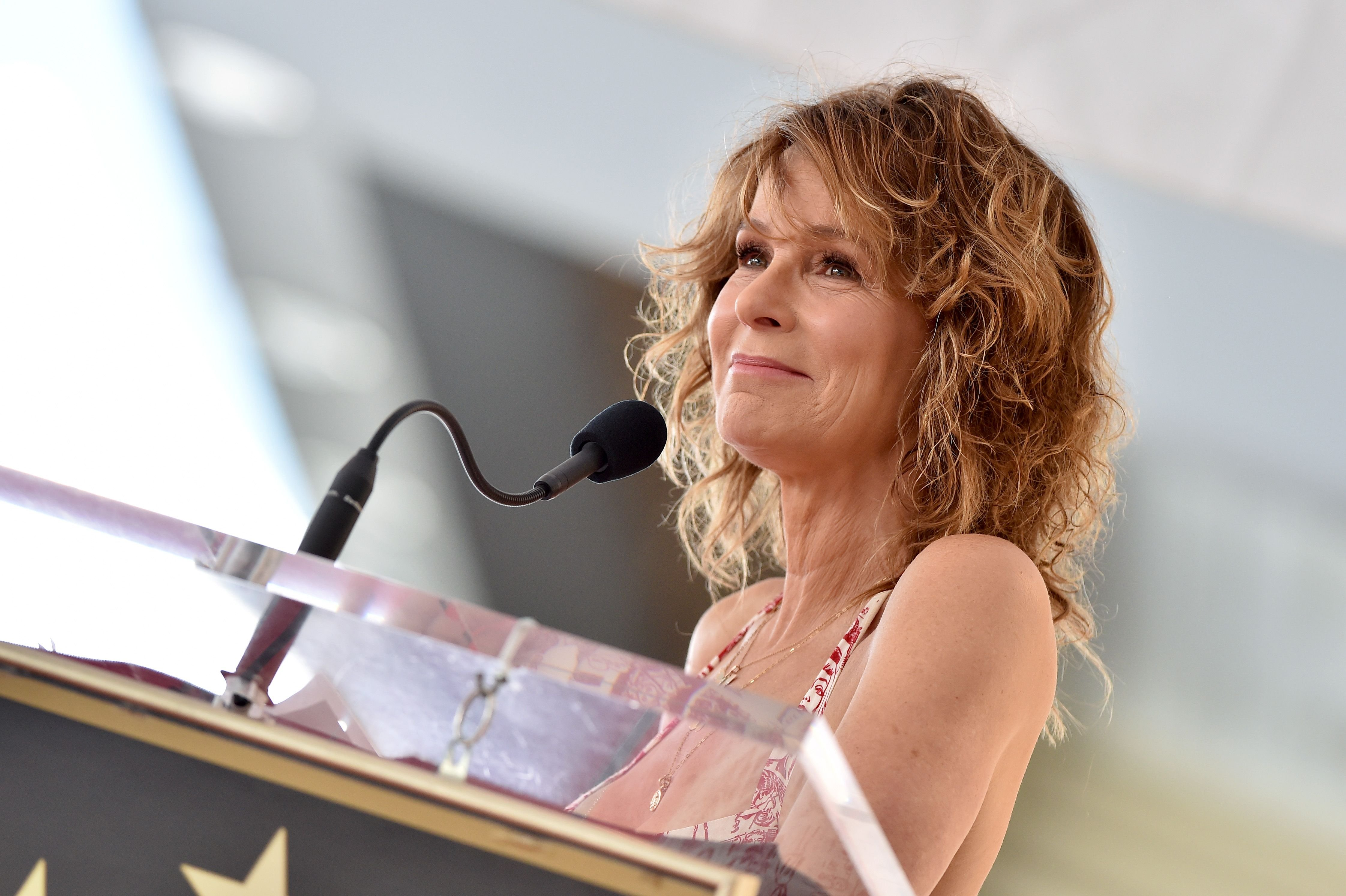 Jennifer Grey attends the ceremony honoring Kenny Ortega with Star on the Hollywood Walk of Fame on July 24, 2019 in Hollywood, California. | Source: Getty Images