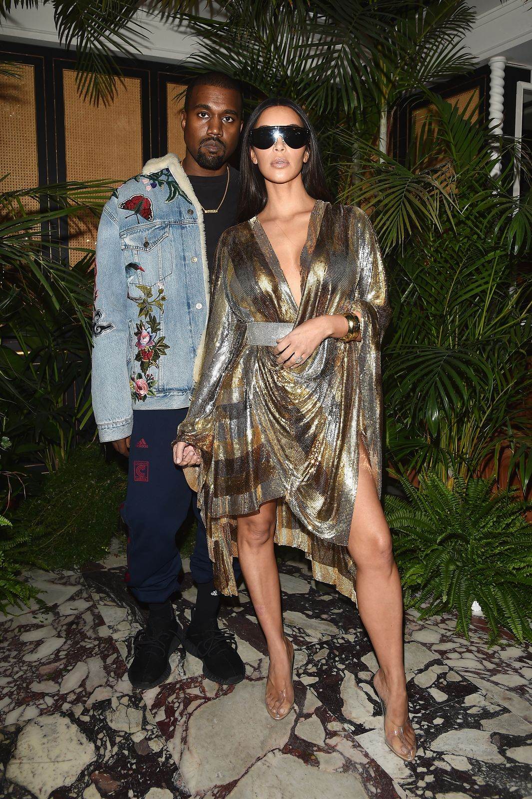 Kanye West & Kim Kardashian at the Balmain aftershow party during the Paris Fashion Week on Sept. 29, 2016 France | Photo: Getty Images