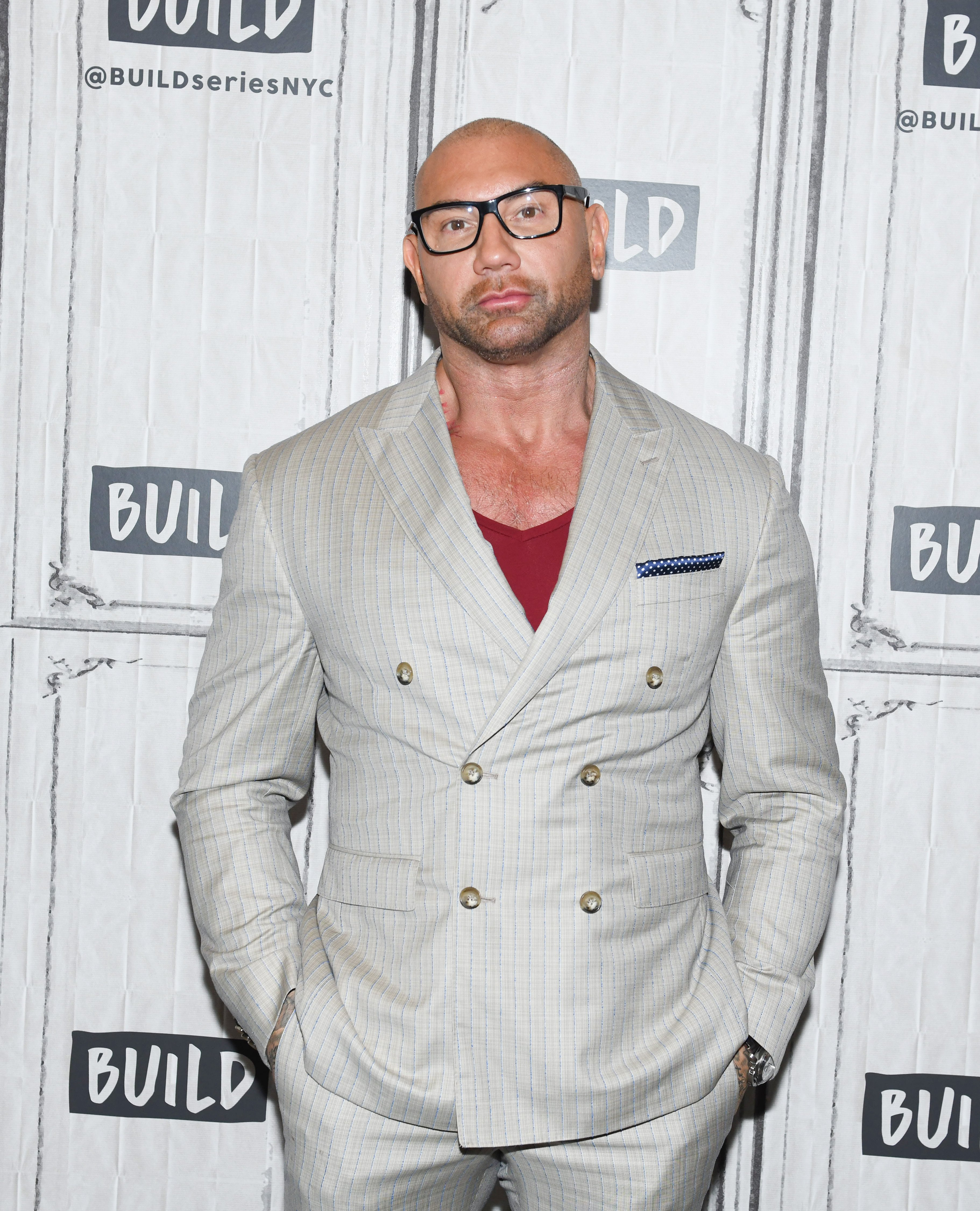Dave Bautista attends the Build Series event in New York City in 2019.   Photo: Getty Images