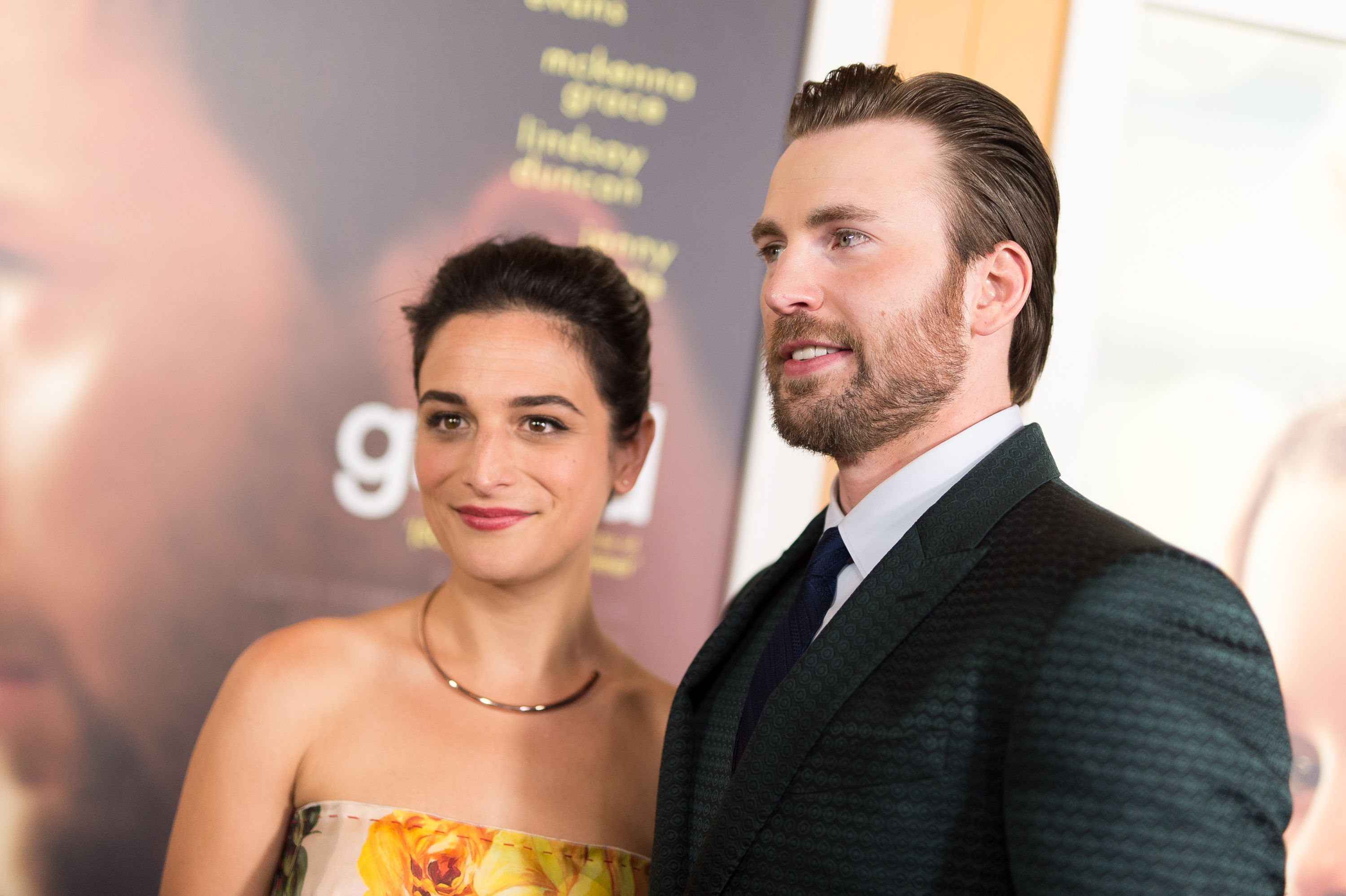 Jenny Slate and Chris Evans at the premiere of 'Gifted' in 2017 in Los Angeles, California   Source: Getty Images