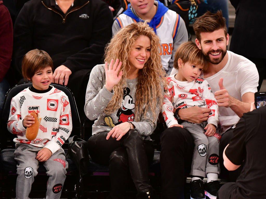 Milan, Shakira, Sasha y Gerard Piqué.| Fuente: Getty Images| Fuente: Getty Images