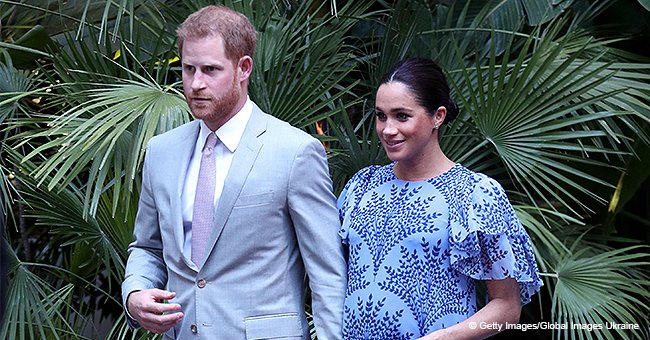 Pregnant Meghan Markle Looks like a Floral Goddess in an Incredible Maxi-Dress in Morocco