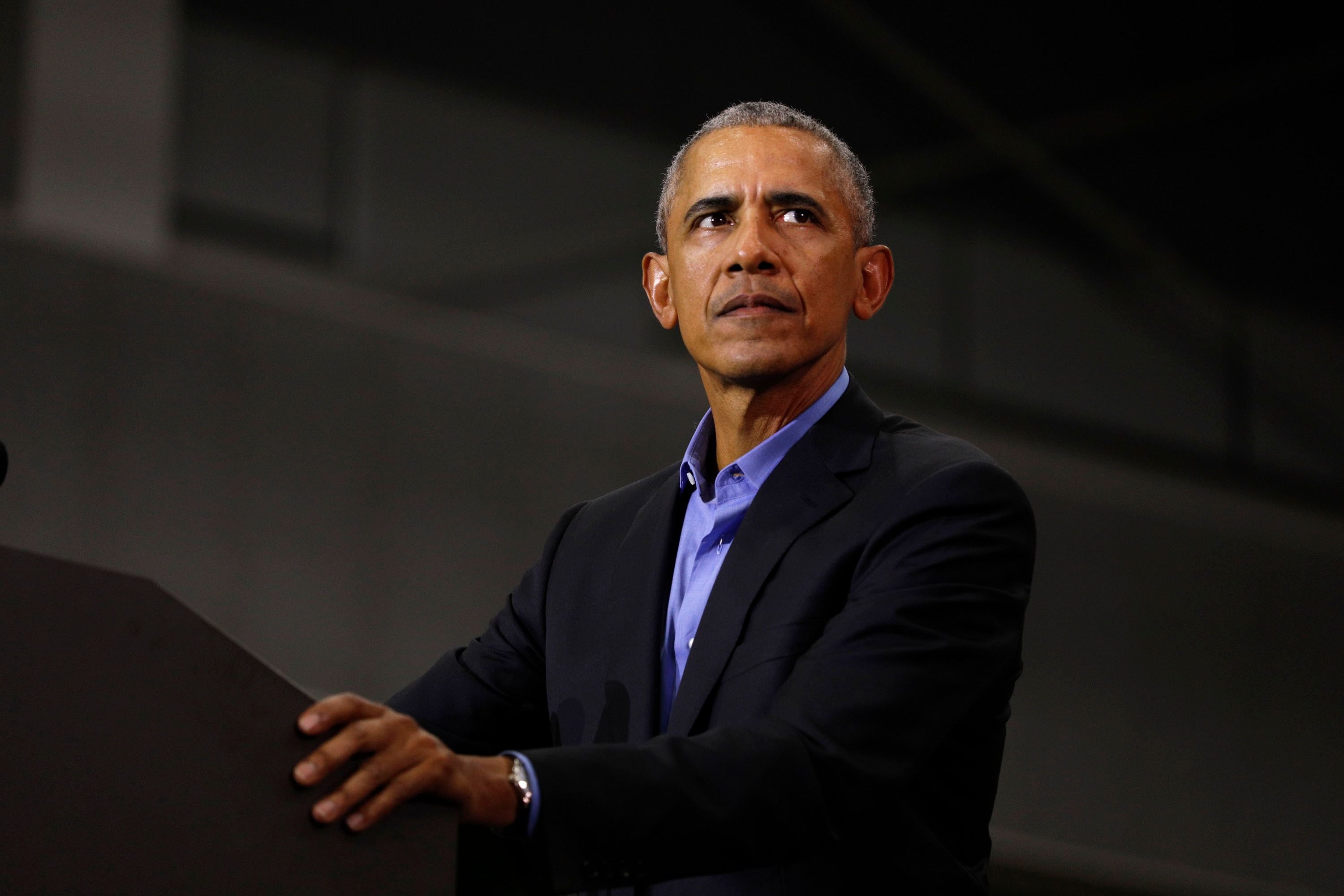 Former President Barack Obama speaks at a rally to support Michigan democratic candidates at Detroit Cass Tech High School on October 26, 2018 | Photo: Getty Images