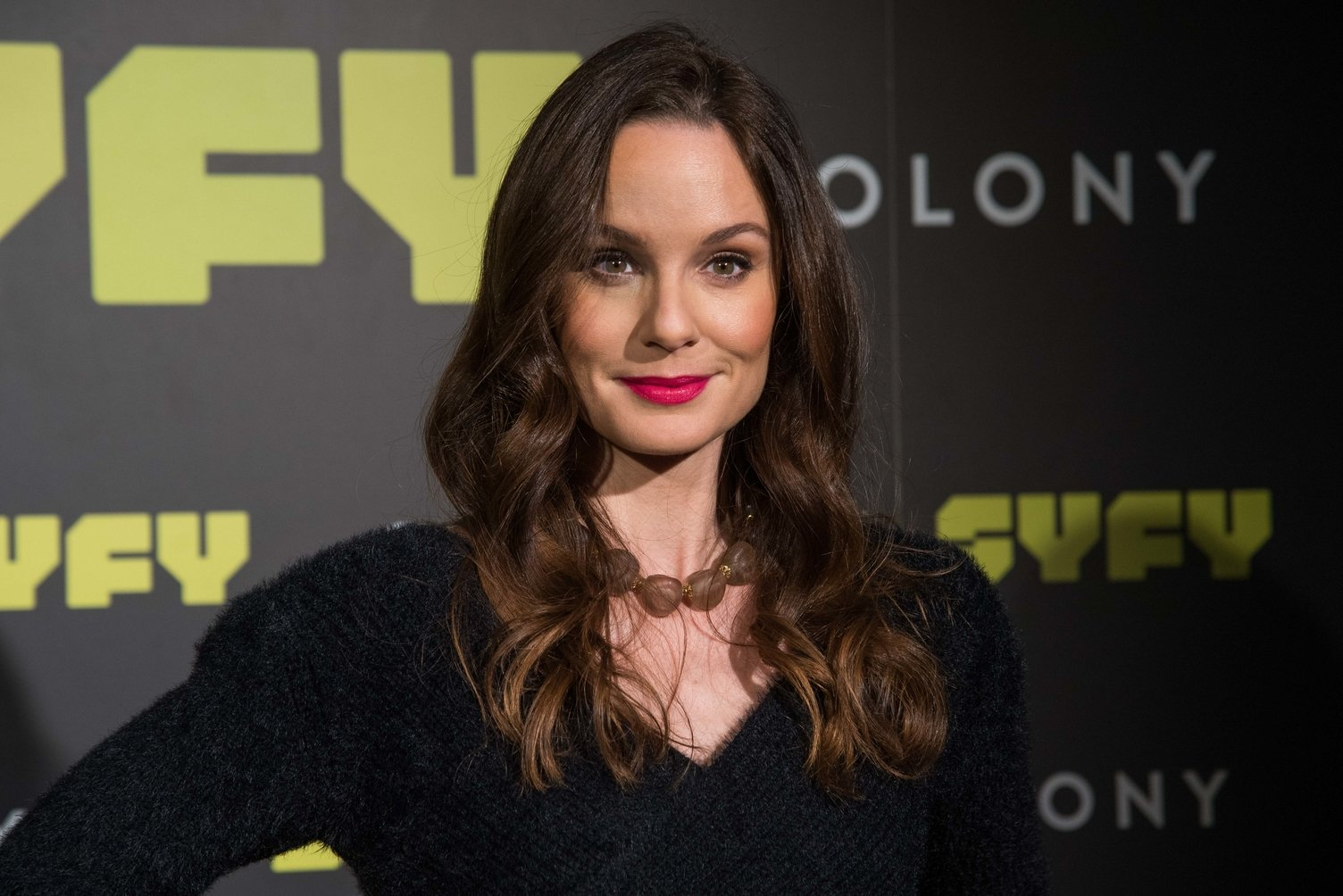 Sarah Wayne Callies attends the 'Colony' Photocall at Santo Mauro Hotel in Madrid on March 8, 2018  | Photo: GettyImages