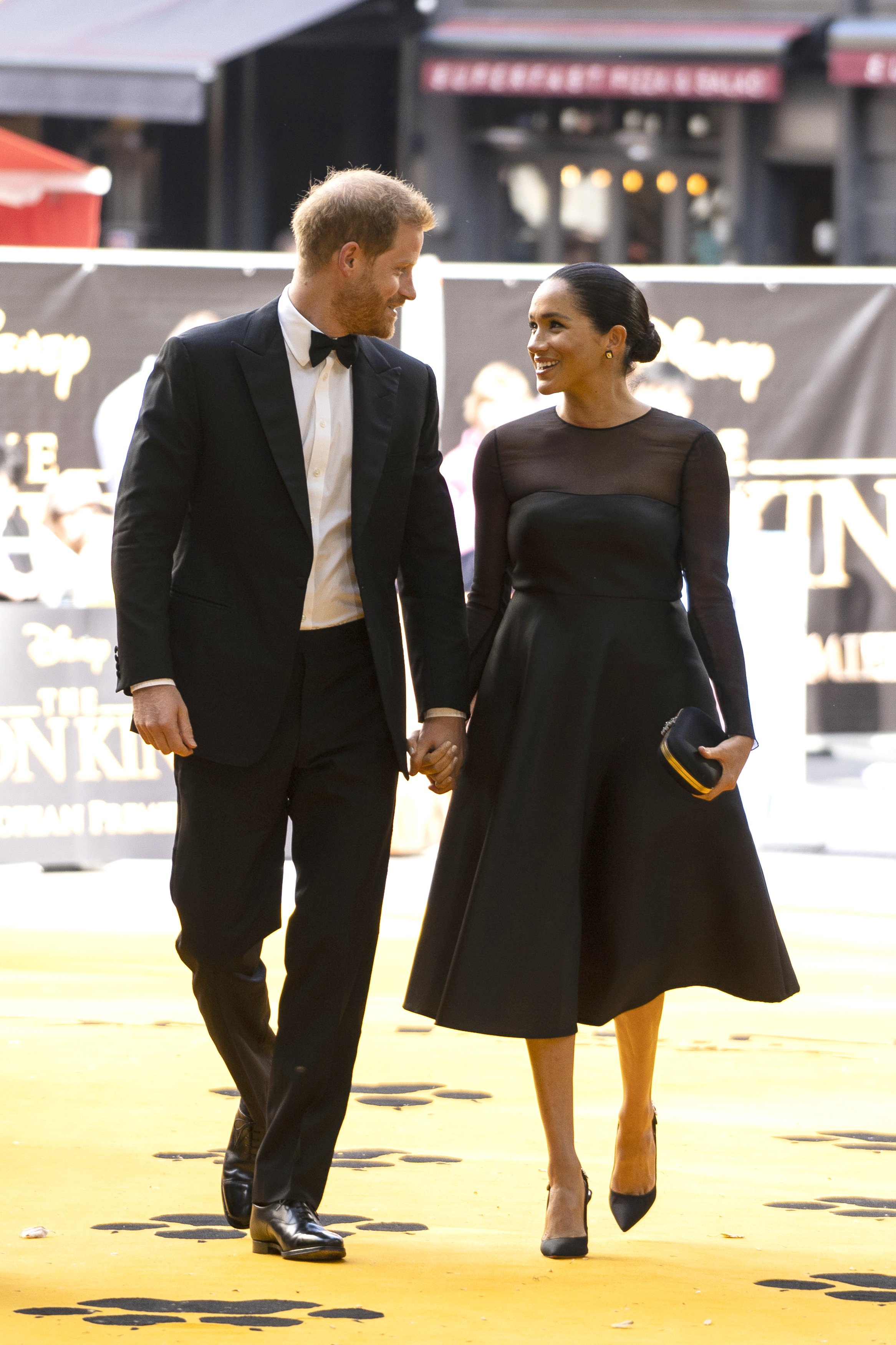 """Meghan Markle and Prince Harry attend the premiere of """"The Lion King"""" in the UK in July 2019 