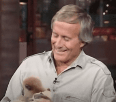 """Jack Hanna pictured on the """"Late Show with David Letterman"""" in 1998. 