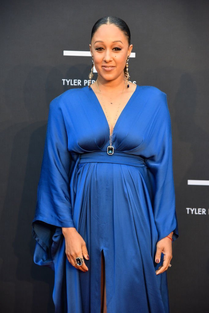 Tamera Mowry-Housley attends Tyler Perry Studios grand opening gala at Tyler Perry Studios | Photo: Getty Images