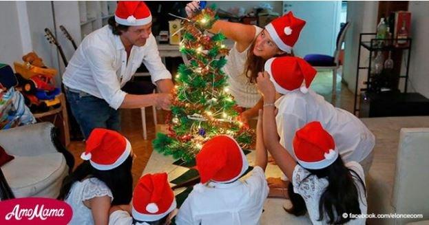 Pareja adoptó a 5 niños y ahora celebran su primera Navidad en familia