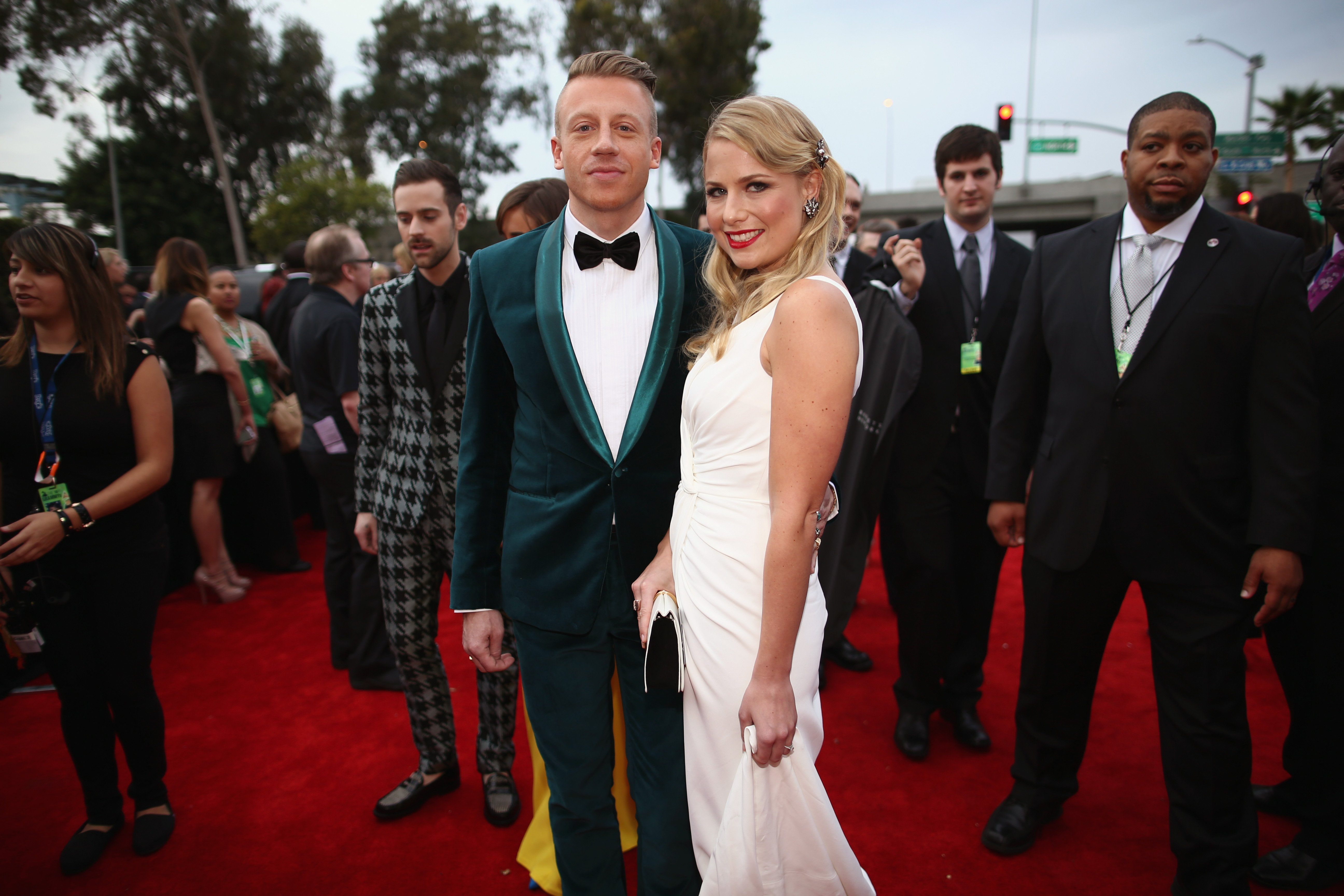 Macklemore and Tricia Davis pictured at the 56th Grammy Awards at Staples Center, 20214, Los Angeles California.   Photo: Getty Images