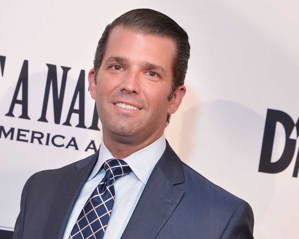 """Donald Trump, Jr. attends the DC premiere of the film, """"Death of a Nation,"""" at E Street Cinema on August 1, 2018 in Washington, DC. 