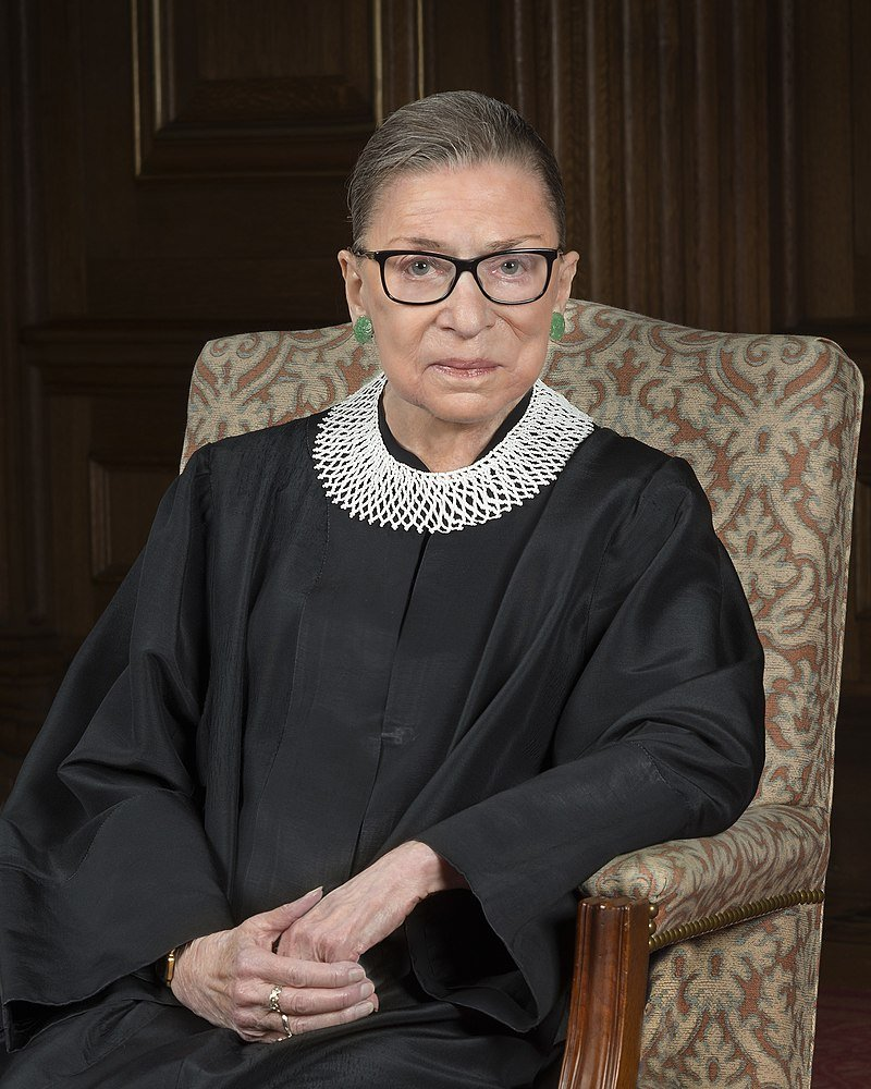 Ruth Bader Ginsburg | Source: Wikimedia Commons/ Supreme Court of the United States, Ruth Bader Ginsburg 2016 portrait, marked as public domain