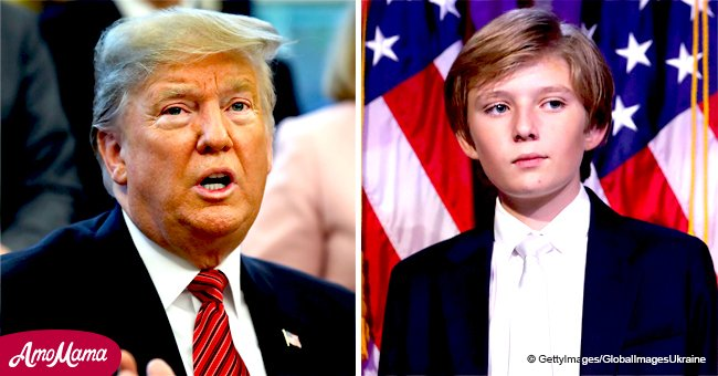 Trump 'would have a hard time' if his son Barron chose football, he says in a rare confession