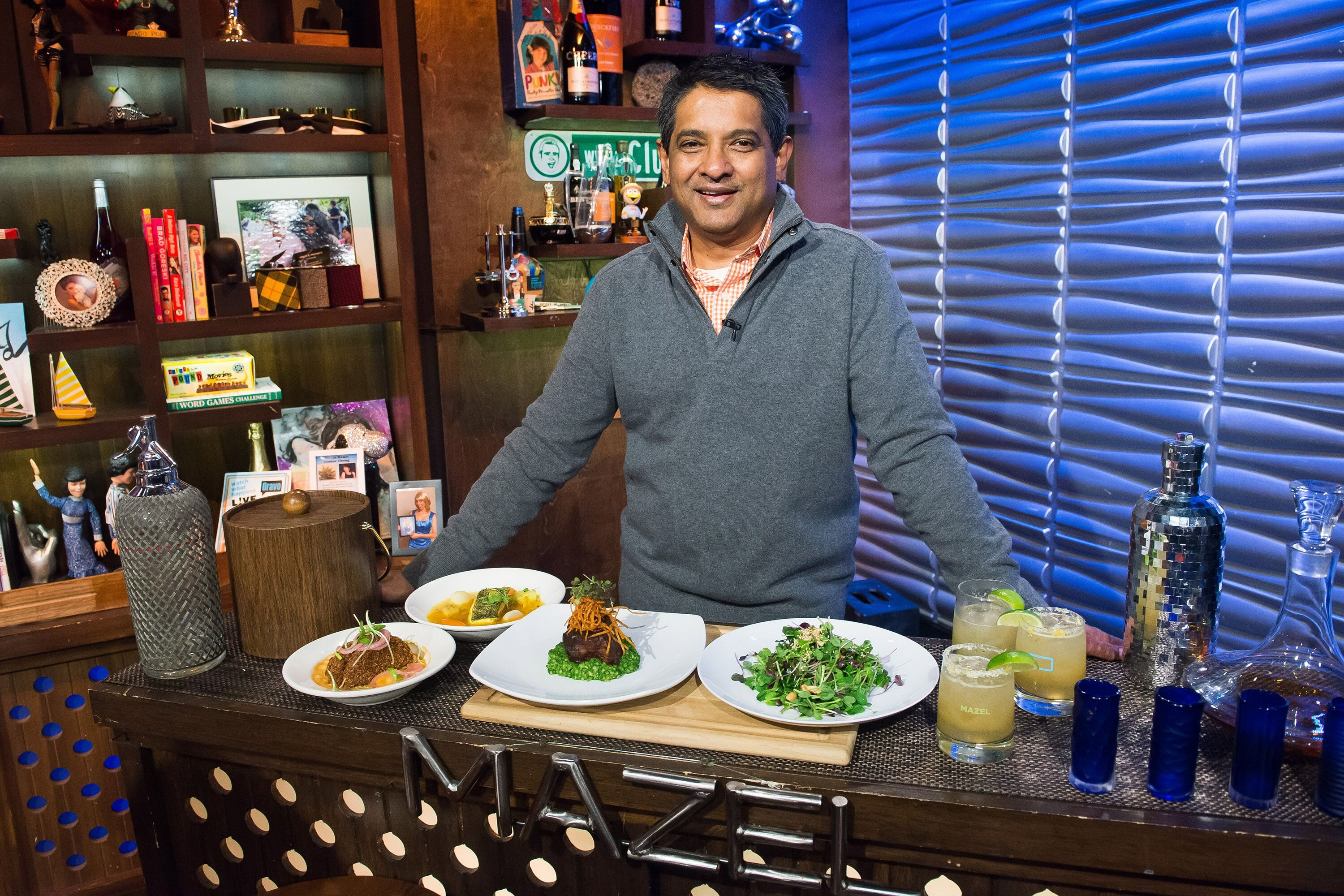 """Floyd Cardoz on """"Watch What Happens Live"""" season 12 on January 15, 2015 