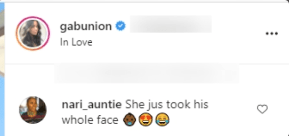 Screenshot of a fan comment from Gabrielle Union's Instagram. | Photo: Gabrielle Union/Instagram