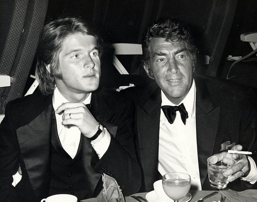 Dean Martin and son Dean-Paul Martin at the premiere party for 'Airport on March 19, 1970 in Hollywood, California | Photo: Getty Images