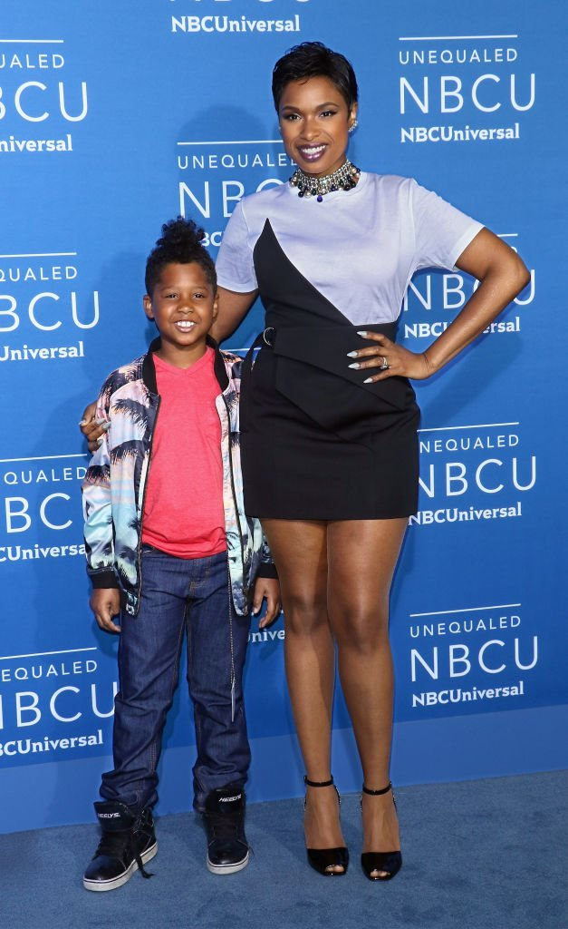 Jennifer Hudson (R) and son David Daniel Otunga Jr. attend the 2017 NBCUniversal Upfront at Radio City Music Hall | Photo: Getty Images