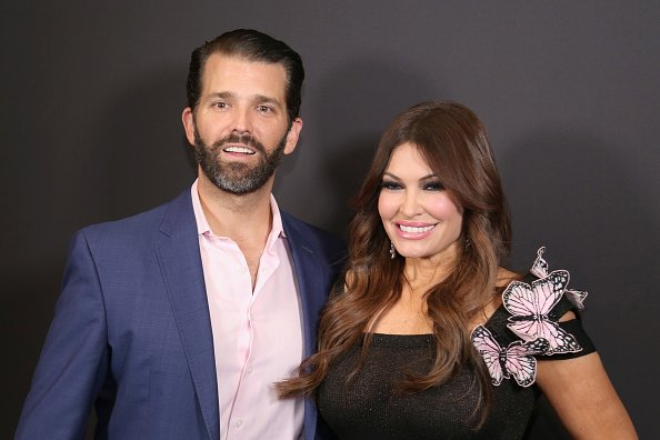Donald Trump Jr. and Kimberly Guilfoyle pose backstage Gallery II in Spring Studios after the Zang Toi runway show during New York Fashion Week: The Shows at Spring Studios on February 13, 2019 in New York City | Photo: Getty Images
