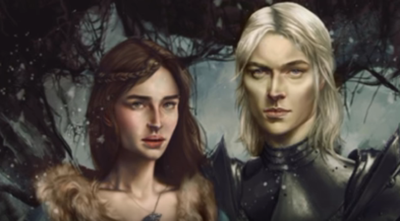 RHAEGAR CROWNS LYANNA STARK AS QUEEN OF LOVE AND BEAUTY -281 YEARS AC