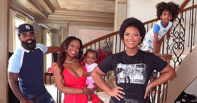 Kandi Burruss Mocks Daughter Riley's Pose in New Snap with Husband Todd Tucker and Kids
