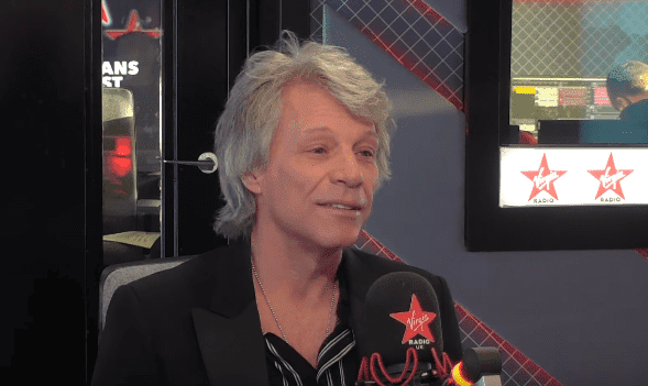 """Jon Bon Jovi talking about his musical collaboration with Prince Harry on """"The Chris Evans Show"""" on February 26, 2020. 