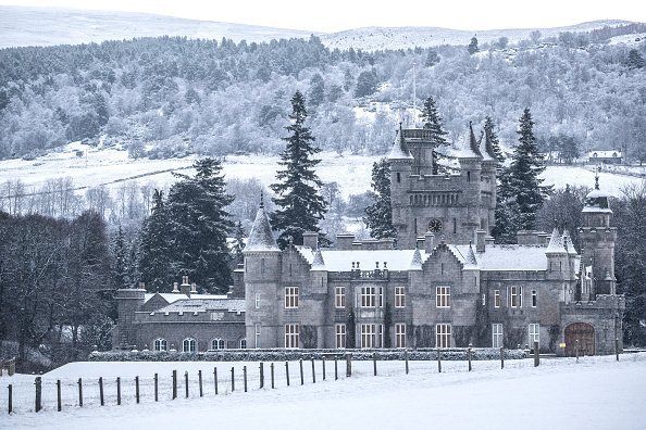 Balmoral Castle, Royal Deeside, im Schnee, 2019 | Quelle: Getty Images
